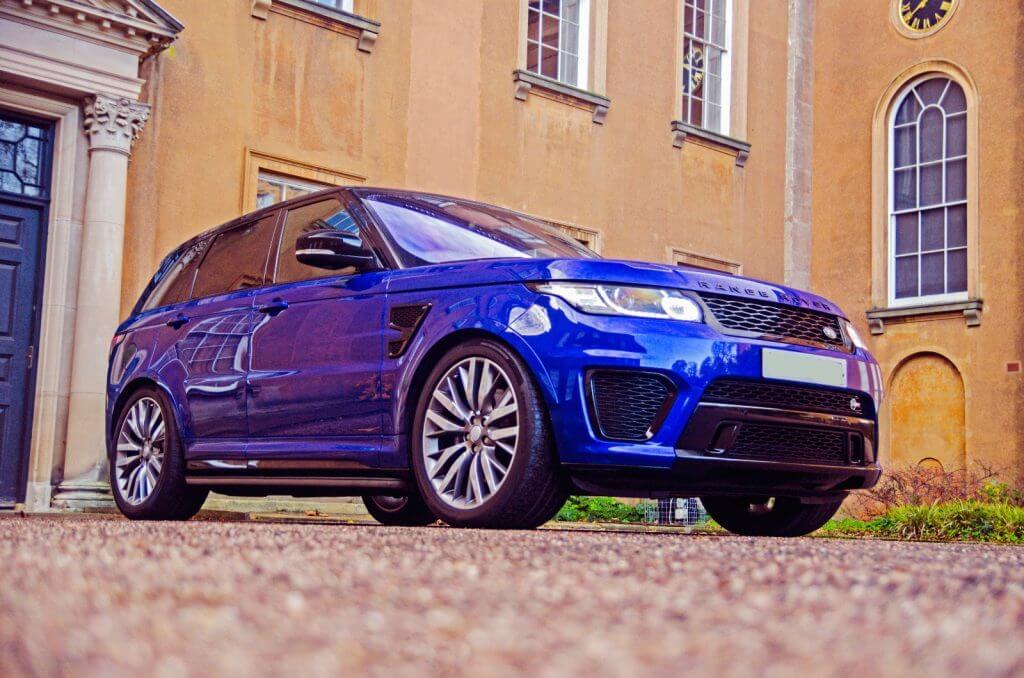 Range Rover Sport SVR prestige car hire