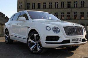 Bentley Bentyaga wedding hire cars