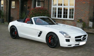 Mercedes SLS sports car rental in Birmingham